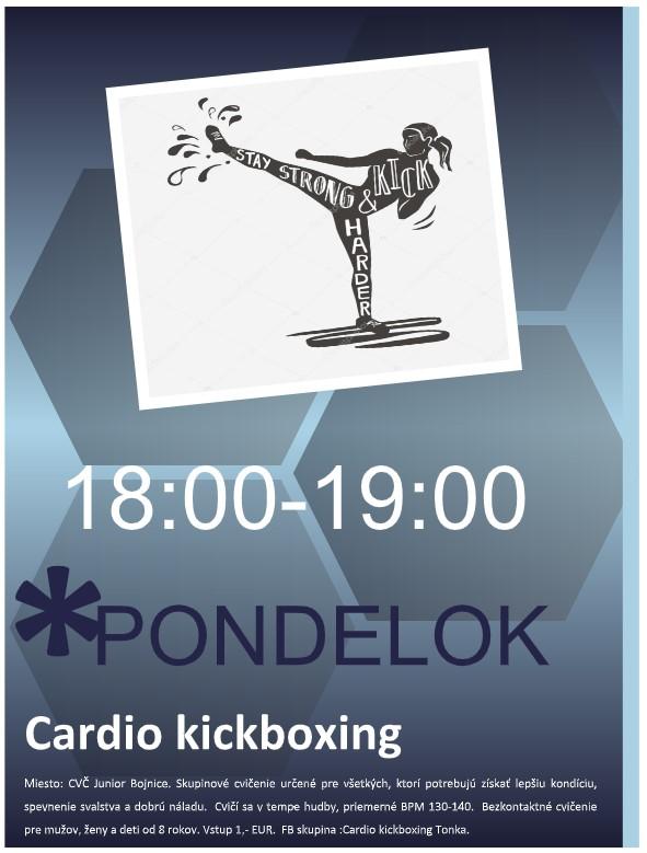 cardio kickboxing plagát